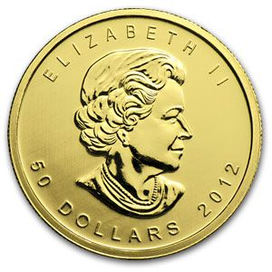2012 1 Ounce Canadian Gold Maple Leaf Coin [1-ML-OUNCE-2012]: Aydin Coins & Jewelry, Buy Gold Coins, Silver Coins, Silver Bar, Gold Bullion, Silver Bullion - Aydincoins.com
