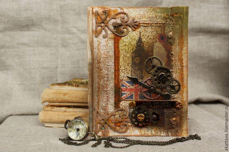 """Купить винажный альбом """"Старый Лондон"""" - бежевый, винтаж, лондон, англия, фотоальбом, альбом, ретро"""