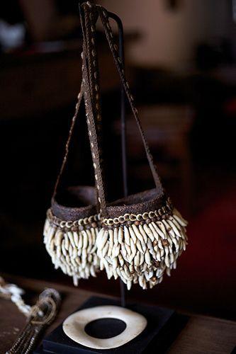 ~ two small tribal bags, via Theia Interior