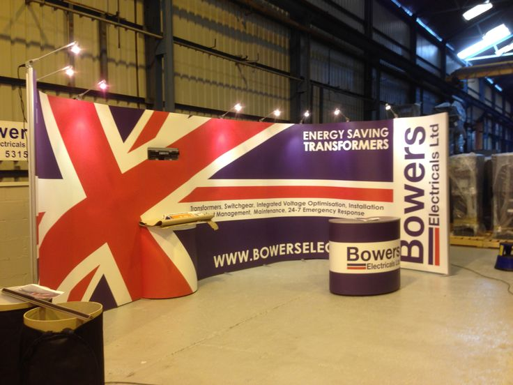 ISOframe Wave exhibition stand supplied and printed for Bowers Electrical