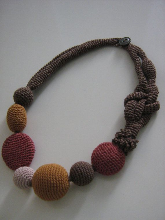 Crochet necklace by Suzann61 on Etsy