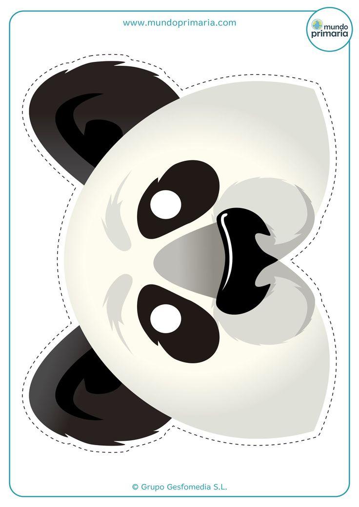 Descarga esta careta de oso panda para imprimir de entre nuestra colección de caretas de animales.