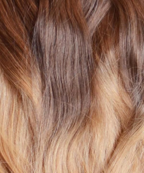 20 Inches 200 Gram Full Head Set Of Light Warm Ombre 100 Remy