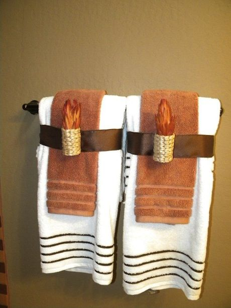 49 best Towel decor images on Pinterest DIY, Home and Bathroom ideas - decorative towels for bathroom ideas