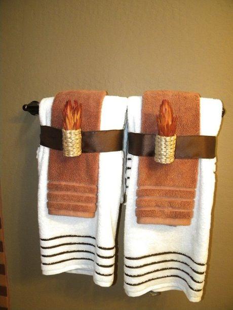 Creative Towel Ideas Bathroom Decor Pinterest