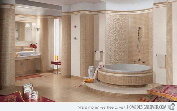 16 Beige and Cream Bathroom Design Ideas | Home Design Lover