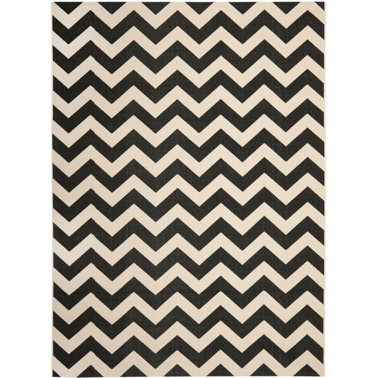 Safavieh Courtyard Black/ Beige Indoor Outdoor Rug | Overstock.com Shopping  - Great Deals