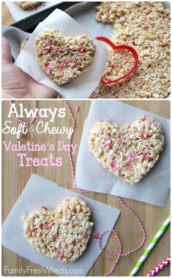Always soft and chewy rice crispy treats -- FamilyFreshMeals.com - Cut out for holidays