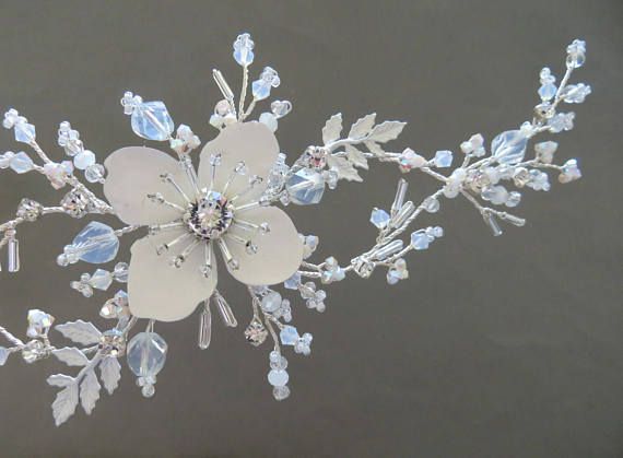 Bridal Headpiece  Bridal hair piece Opal headpiece Wedding
