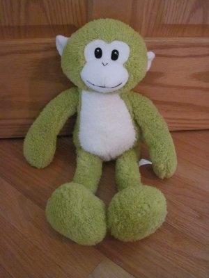 Pier 1 Imports Plush Chenille Green Monkey White Face Toy