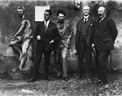 James Joyce, Ezra Pound, John Quinn and Ford Madox Ford                              in Paris, Autumn 1923