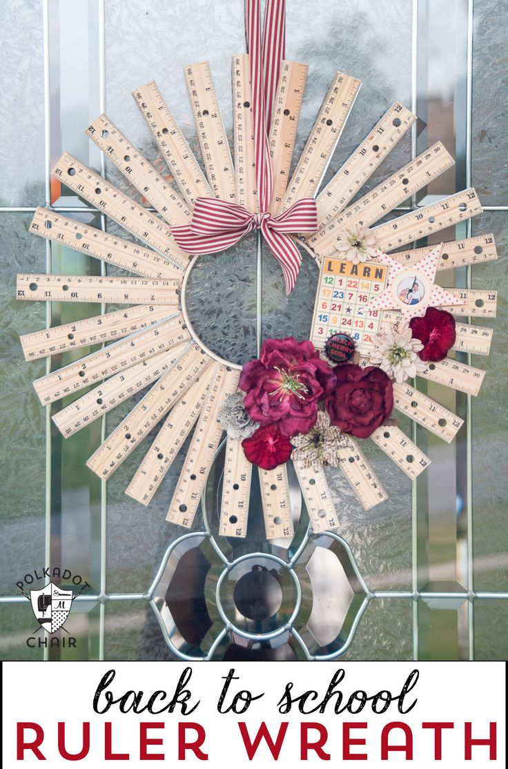 diy office gifts. Back To School Craft Idea Or Teacher Appreciation Gift, A Personalized DIY Ruler Wreath! Diy Office Gifts