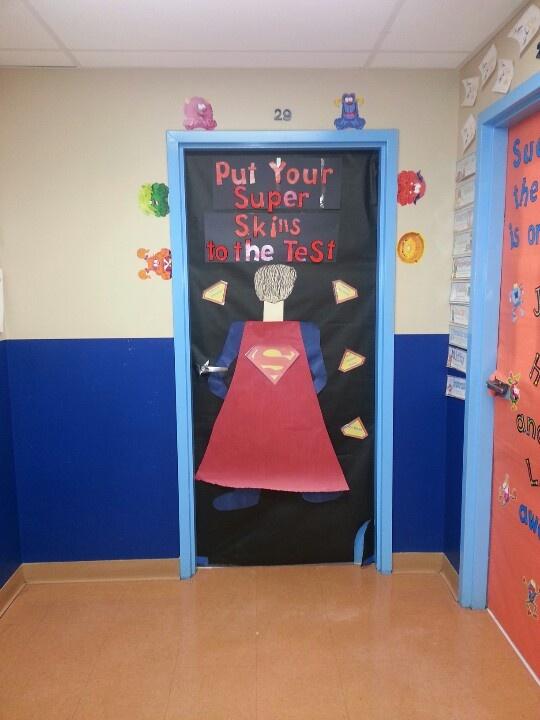 Testing Door Decorations Classroom Superhero Bulletin
