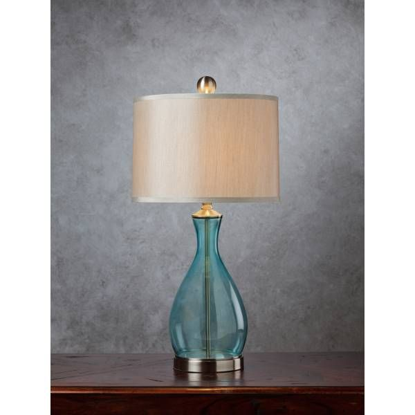 Shop For Blue Glass Lamp, And Other Lamps And Lighting At Star Furniture  TX. This Lamp Offers A Clear Blue, Mouth Blown Glass Body With Satin Nickel  Metal ...