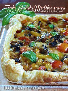 Torta salata mediterranea | ricetta vegetariana senza uova