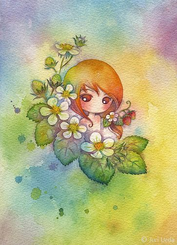 Juri Ueda: uzuki | Flickr - Photo Sharing! Watercolor on paper. More at: http://www.flickr.com/photos/juriu/sets/72157600766150677/