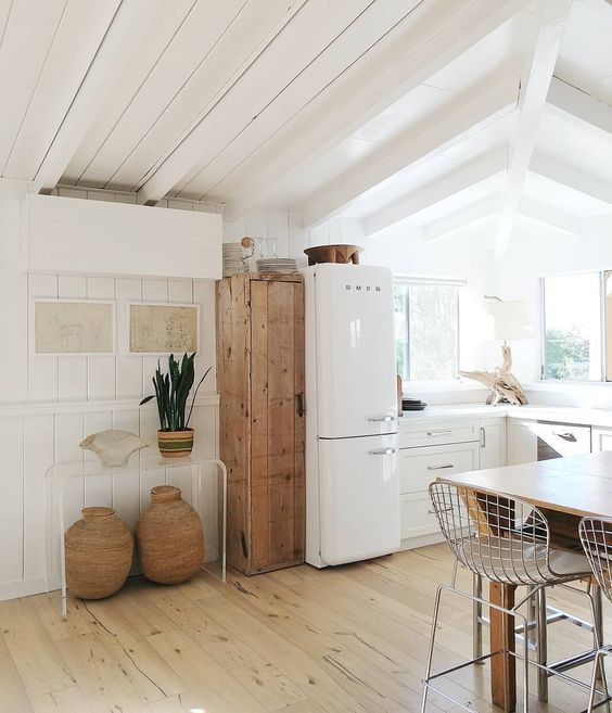 What a cute vintage fridge | A Touch of Simple