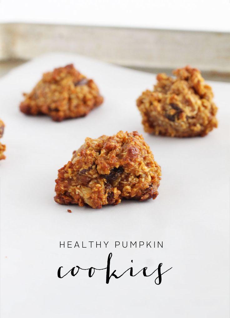 healthy pumpkin cookies.