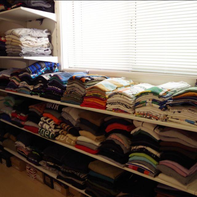 meeさんの、IKEA,クローゼット,ブラインド,洋服収納,見せる収納,生活感,洋服部屋,ALGOT,のお部屋写真