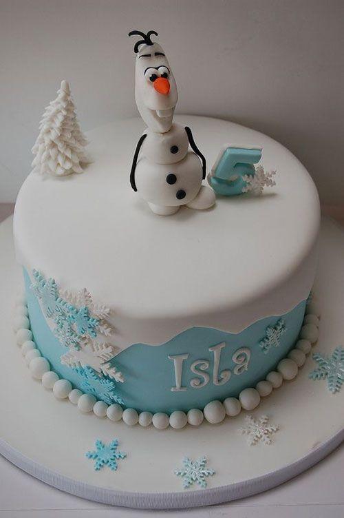 Torta di Frozen con decorazioni in pasta di zucchero n.74