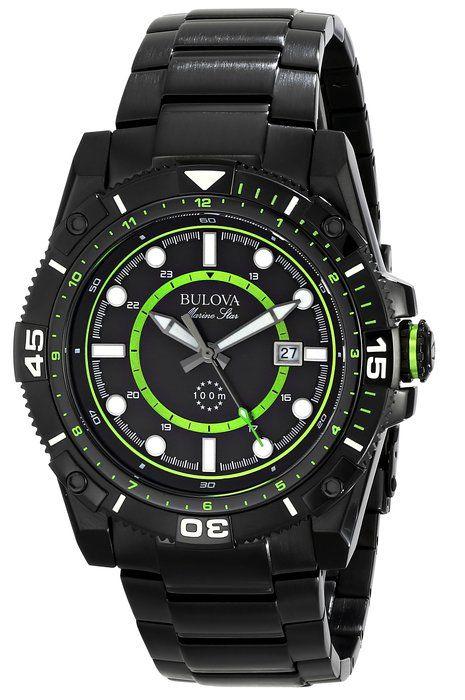 Bulova Men's 98B178 Marine Star Stainless Steel Watch