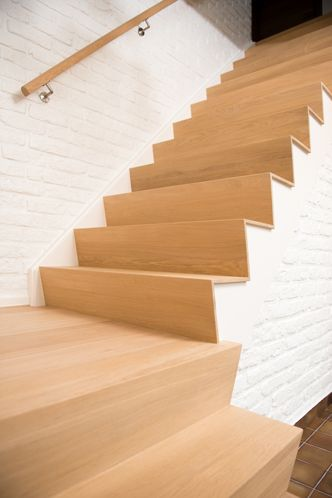 1000 images about inspiratie trap gang on pinterest wooden steps lighting and wooden - Deco houten trap ...