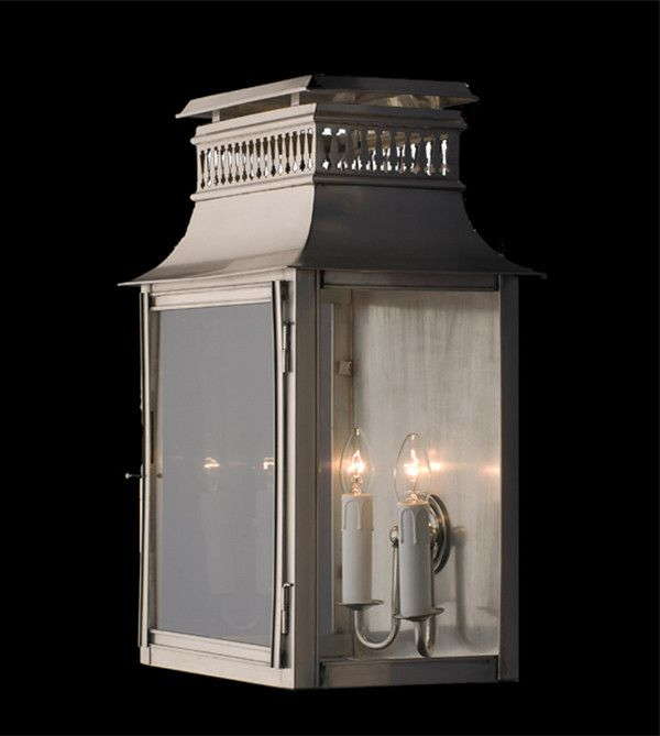 Available in Black, Antique Brass and Antique Silver, each finish gives this versatile wall lantern appeal in different applications.  At over 500mm in height, it would make the perfect feature light.  Dimensions H:530 W:330 P:230  Finishes Antique Silver Antique Brass Black  Globe 240V Candle 2 x 40W (not included)
