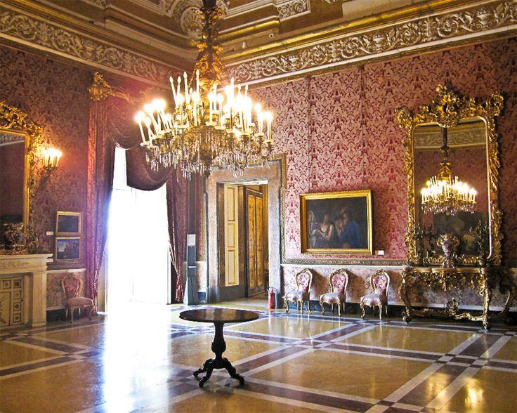Interior of Royal Palace - #Naples, Italy