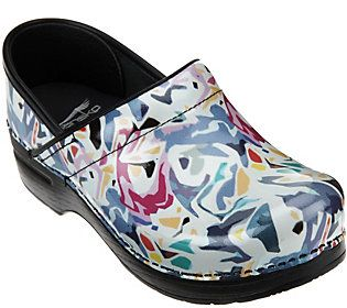Dansko Professional Leather Clogs in Fashion Colors