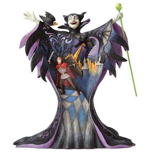 (affiliate link) Disney Traditions Sleeping Beauty Maleficent with Scene Malevolent Madness Statue