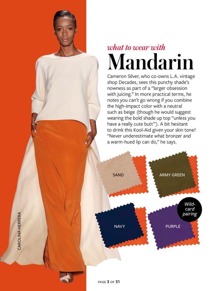 What to wear with...mandarin orange.