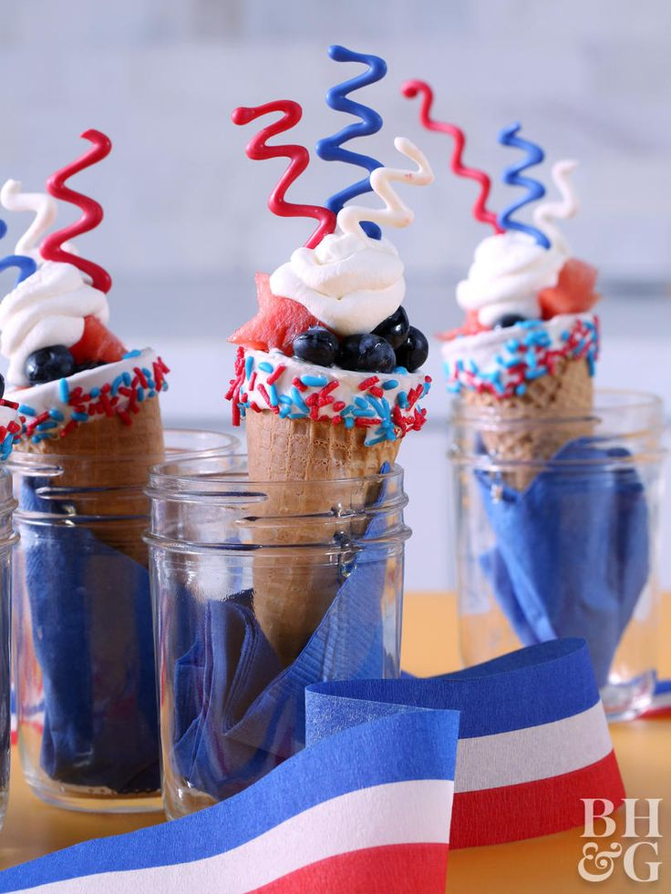 These are officially our new favorite way to use ice cream cones! Of course they can still be used to hold ice cream, but what about using them for fruit, cupcakes and much more! See all the different ways to use ice cream cones to serve up sweet treats! #dessert #icecreamcones #recipes