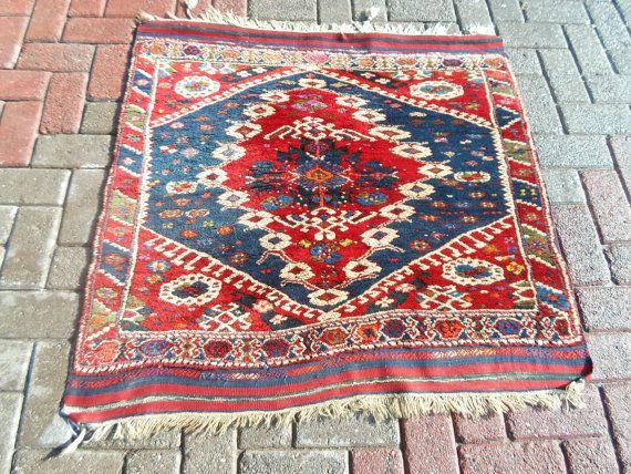 Vintage west anatolian Bergama hand wowen wool on by ArasCarpet
