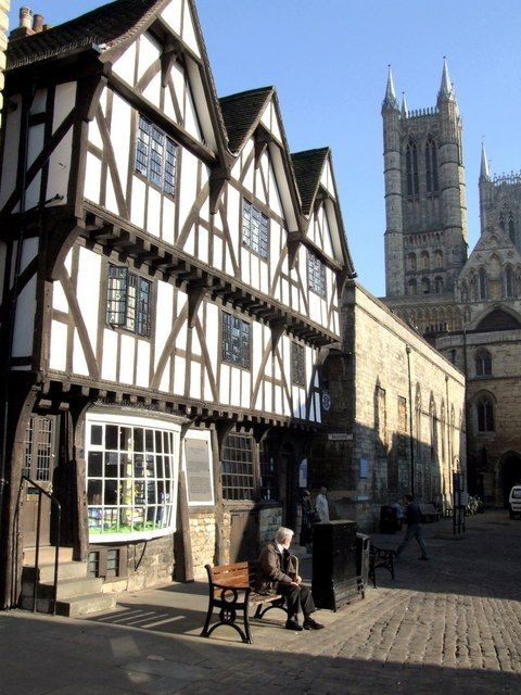 The Leigh-Pemberton House, Lincoln, England. Built in 1545