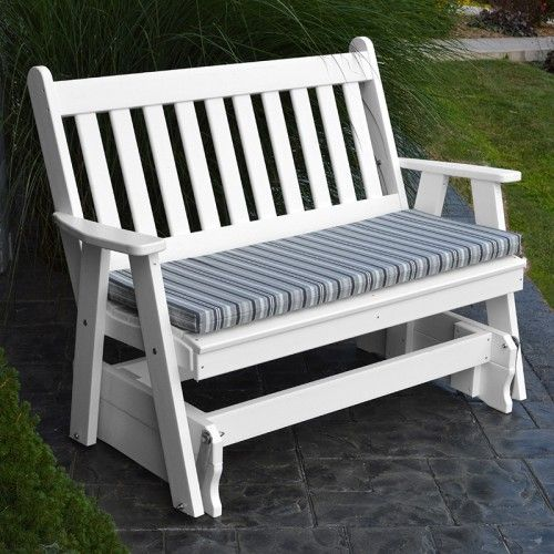 traditional english outdoors poly glider 870 - Porch Gliders