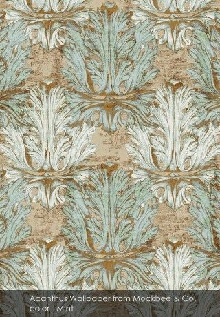 Acanthus Wallpaper from Mockbee & Co. - Captivating luxury with Mockbee & Co.
