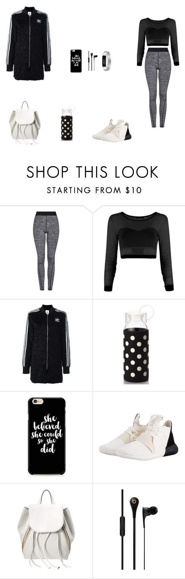 """""""Back to the Gym!"""" by julianaf121 ❤ liked on Polyvore featuring Topshop, adidas Originals, Kate Spade, Rebecca Minkoff, MCM and Fitbit"""