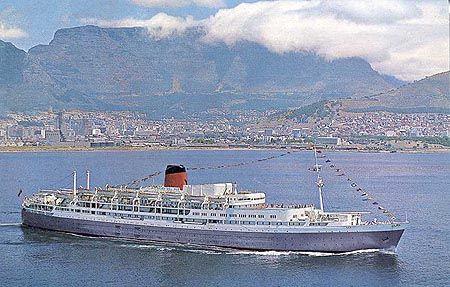 Reina Del Mar (1956) - Pacific Steam Navigation Company - Union-Castle Line