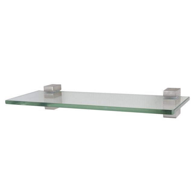 Xvl 14 Inch Bathroom Glass Shelf Brushed Nickel Gs3002a With