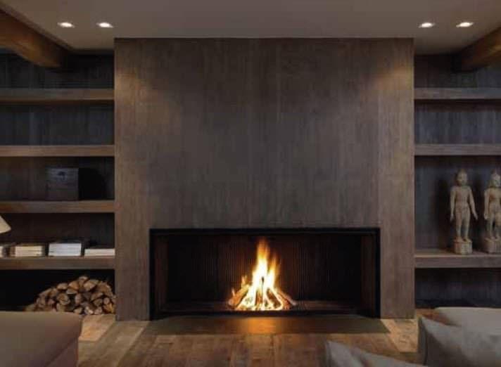 Contemporary fireplace (wood-burning open hearth) - UNIVERSAL MF 1700-75 W 1S - Metalfire