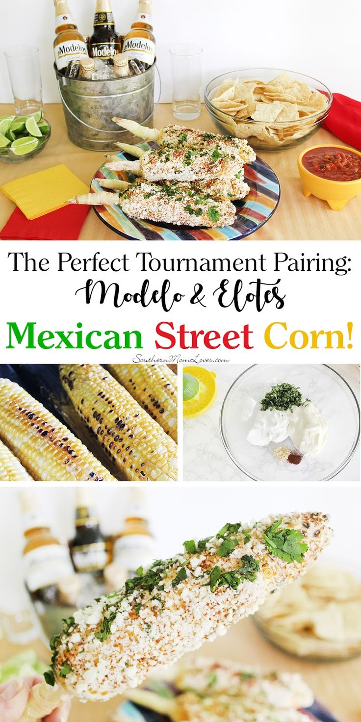 Msg 4 21+: With a husband who is a sports fanatic, I have a ball (womp, womp) coming up with ways to make game days more delicious. With the 2017 soccer tournaments coming up, I couldn't wait to dive into some international fare. With Modelo as the official beer of the Beautiful Game, I thought elotes would be the perfect pairing. #SummertimeCerveza [ad]