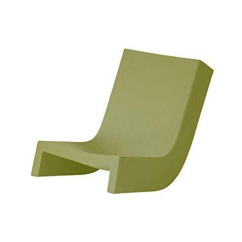 Slide Twist Chaise Longue Lime Green