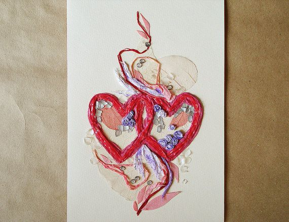 Valentine's day card Valentine card I love you by FloralCollage #floral #cards #hears