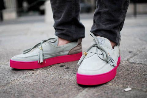 These shoes are so nice! love the loafer with the pop of pink!  Nice.... I want!  Men's fashion - shoes with a pop of pink