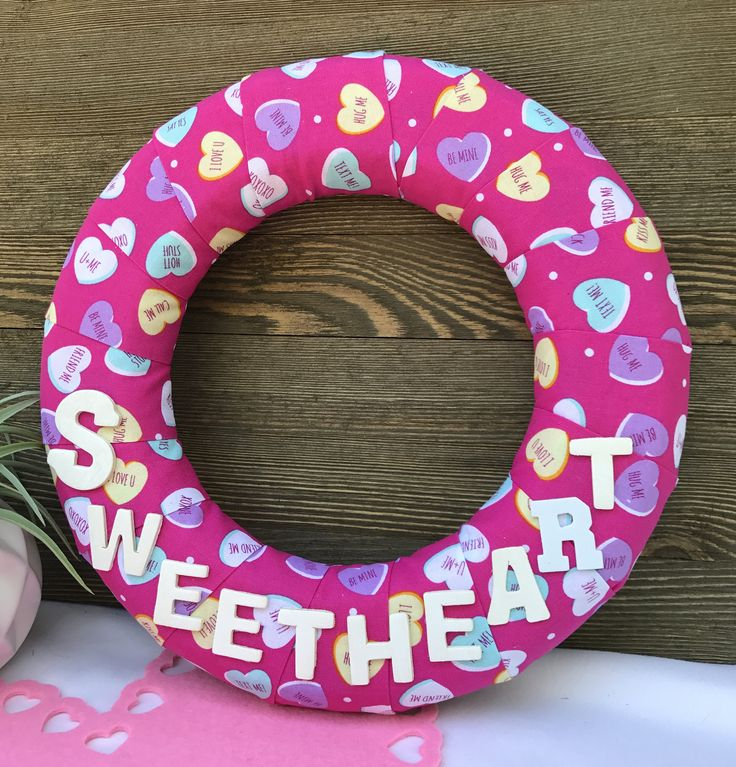 Valentine's Wreath/Sweetheart Wreath/Sweetheart Candy Wreath/Personalized Wreath/Picture Wreath/Yellow WreathHoliday Wreath by DaintyDoorsAndMore on Etsy