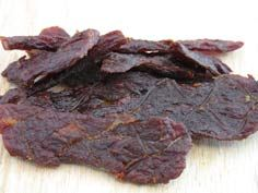 Beef jerky (apple cider vinegar, nutmeg, corn syrup)