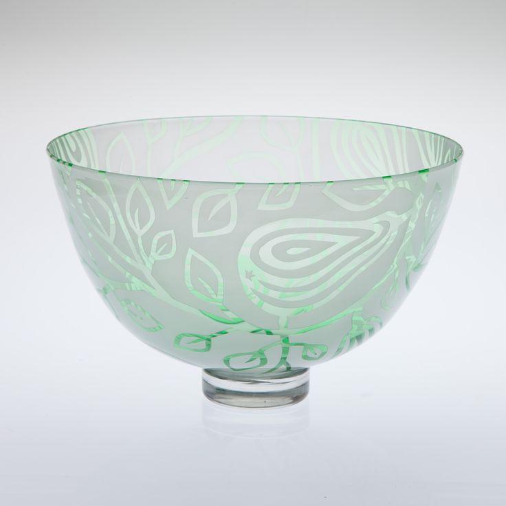 Pear Bowl by Loco Glass www.locoglass.co.uk