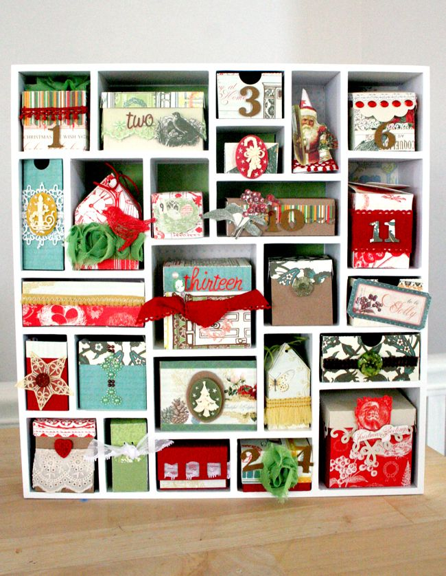 Gorgeous Advent calendar with Webster's Pages and Silhouette Anybody want to buy my Cricut?
