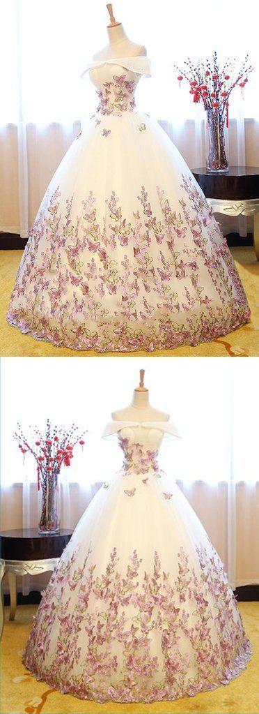 Weißer Tüll schulterfrei lange trägerlosen Spitze formale Abendkleid, Abendkleid M3