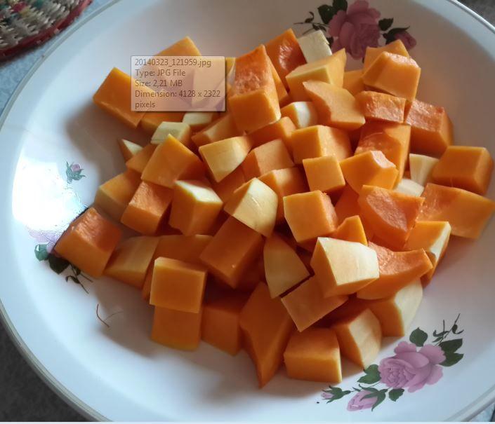 2. cutted pumpkin
